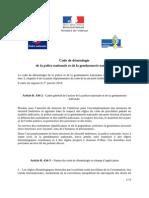 Code Deontologie Police Gendarmerie 06-12-2013