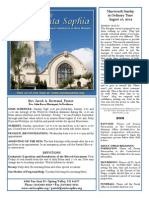 Santa Sophia Bulletin Aug 10, 2014