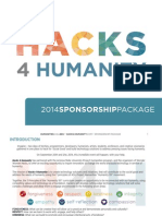 Hacks 4 Humanity Sponsorship Kit