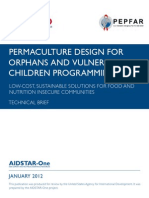 PERMACULTURE DESIGN FOR ORPHANS AND VULNERABLE CHILDREN PROGRAMMING