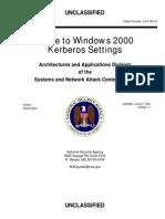 Windows 2000 Kerberos Settings