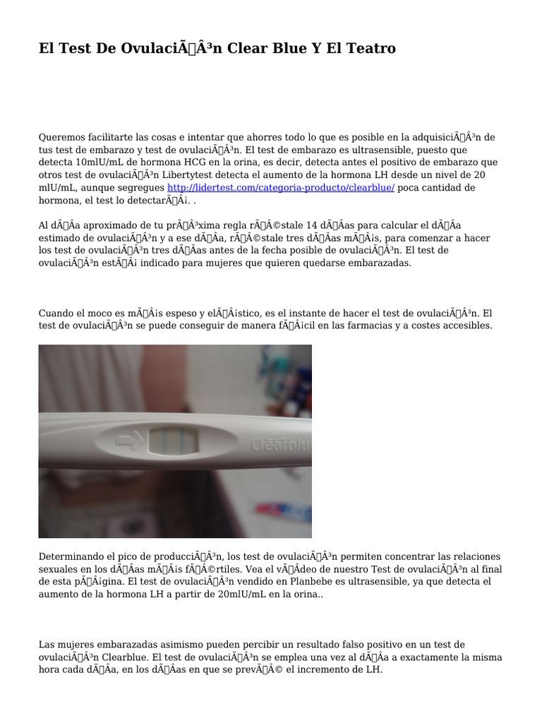 Test de ovulacion clearblue precio en farmacias chile