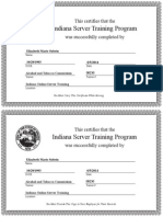 indiana server training certificate