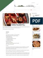Polpette Alla Napoletana - Meatballs Neapolitan Style _ Campania Food & WineCampania Food & Wine