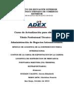 Trabajo Finall Modulo II - Costos de La Carga de Exportacion en La Cadena Logistica de Distribucion de Mercancia Portuaria Maritima (via Terminal Extraportuario)