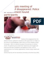 Mob Disrupts Meeting of Families of Disappeared Police & Government Hound Participants