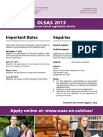 Ontario Law School Application Service 2013