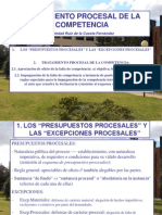 Power Point, Tratamiento Procesal de La Competencia