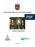 1 Orientaciones Sobre Los Cantos en La Diocesis de Queretaro (Corregido)