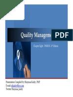 PMBOK - CAP 8 Quality Management