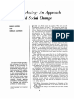Social marketing and approach to planned social change