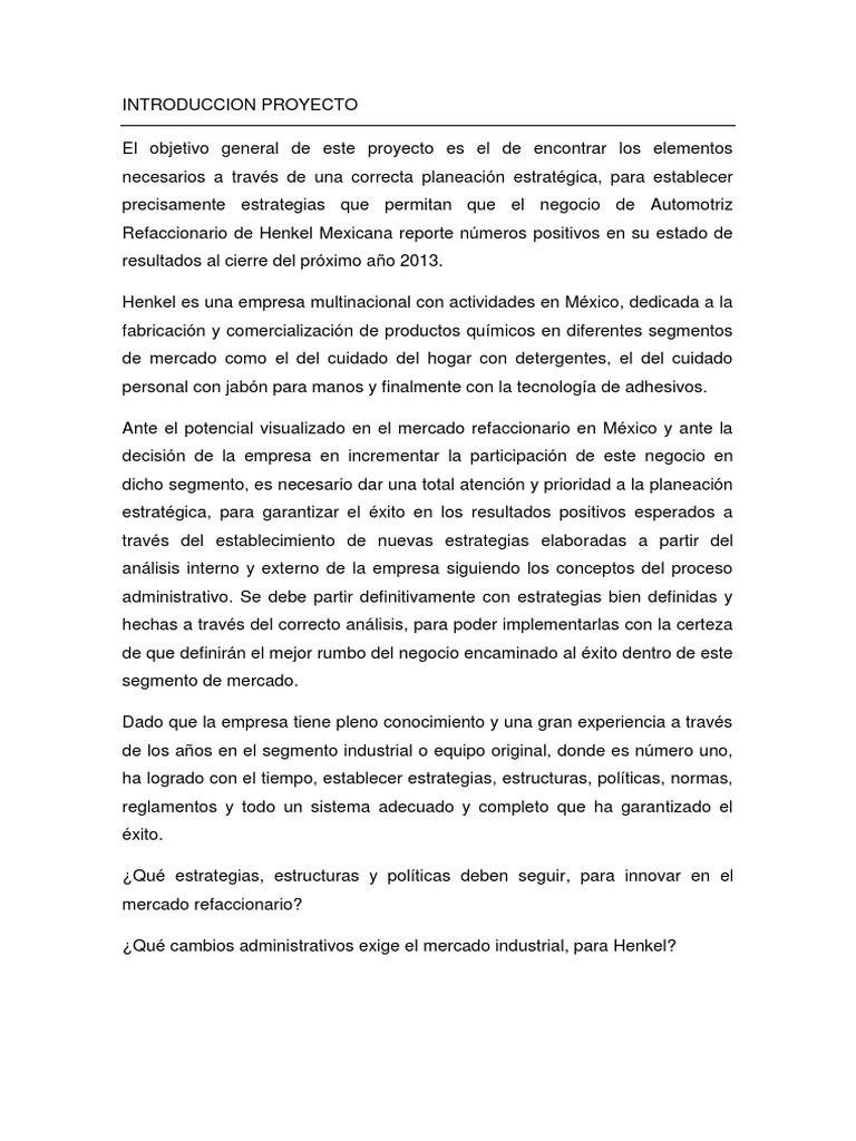 Introduccion PROYECTO   PDF