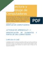 Arquitectura y Ensamblaje de Computadoras