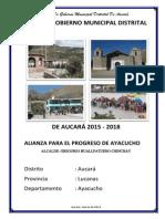 Plan de Gobierno de Aucara - Gregorio Huallpatuero