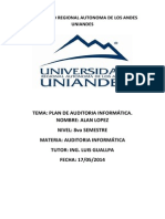 Plan de Auditoria Informática