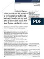 The Effect of Periodontal Therapy on the Survival Rate and Incidence of Complications of Multirooted Teeth With Furcation Involvement After an Observation Period of at Least 5 Years- A Systematic Review