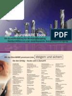 BüroWARE Tools Die Branchenlösung für Werkzeugfertigung, Nachschleifservice und variantenreiche Komponentenfertigung