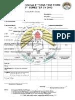 Semestral Pft Form
