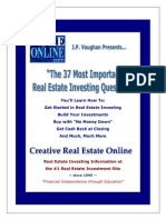 eBook - Real Estate - Robert Allen - The 37 Most Important Real Estate Investing Questions.pdf