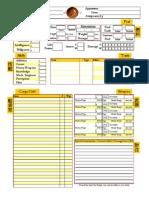Serenity RPG Ship Sheet (Color) - Editable