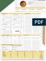 Serenity RPG Ship Sheet 2 - Editable
