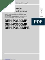 Deh p3600mp Manual