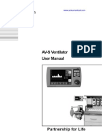 Penlon_avs Ventilator User's Manual