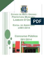 EDITAL PREFEITURA DE LAMBARI D`OESTE - Cópia