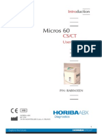 Horiba ABX Micros 60 CS-CT - User Manual