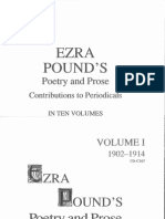 Ezra Pound's Poetry and Prose Vol 1 1902-1914