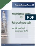 RBI Histórico de Implementação HELDER
