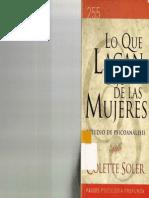 Soler, Colette - Lo Que Lacan Dijo de Las Mujeres - Ed. Paidós