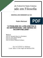 Cartaz Defesa Mestrado de Pedro Merlussi