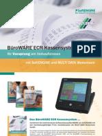 BüroWARE ECR Kassensysteme -  Ihr Vorsprung am Verkaufstresen mit SoftENGINE und MULTI DATA Wedemann