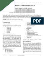 Finite Element Analysis of Arch Dam