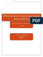 Aashirvaad Select Advertisement