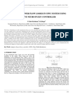 Controlling Power Flow Losses in Upfc System Using Adaptive Neuro-fuzzy Controller