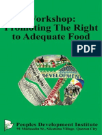 Workshop Promoting The Right to Adequate Food