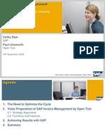 SAP Invoice Management by Open Text -Nov Webinar