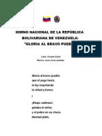 1. Himno Nacional - Revolucion Bolivariana - Simbolos