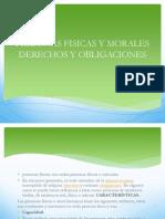 Personas Fisicas y Morales Derechos y Obligaciones