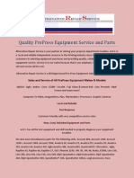 Quality PrePress Equipment Service and Parts
