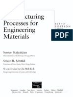 manufacturing processes for engineering materials