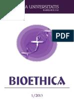 Studia Bioethica 2013