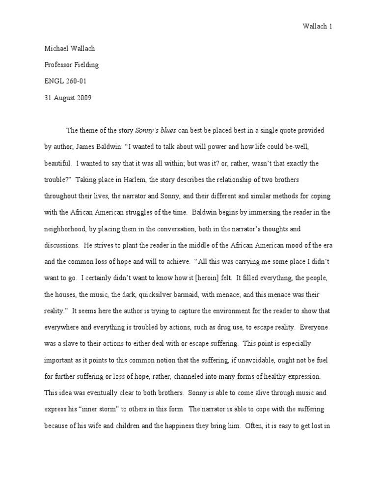 theme of sonnys blues essay