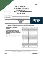 Percubaan Upsr 2014 - Selangor - Matematik Kertas 2