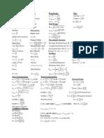 Final Sheet Strengths Equations