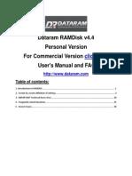 Dataram RAMDisk Users Manual