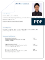 Sample CV of a leather Technologist