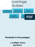 Percentage Quizzes